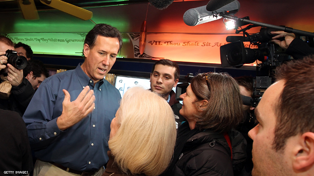 Major Catholic group backs Santorum