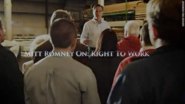 Romney ad targets Obama labor board decision