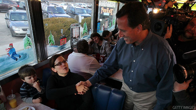 Poll: Santorum edging up in New Hampshire