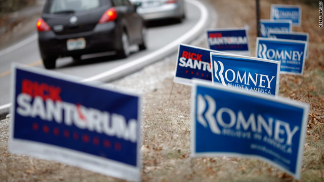 N.H. polls show Romney in lead, but a Santorum bounce
