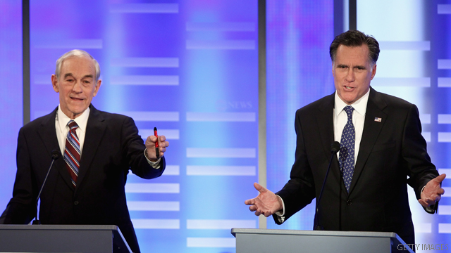 Romney emerges unscathed in contentious GOP debate