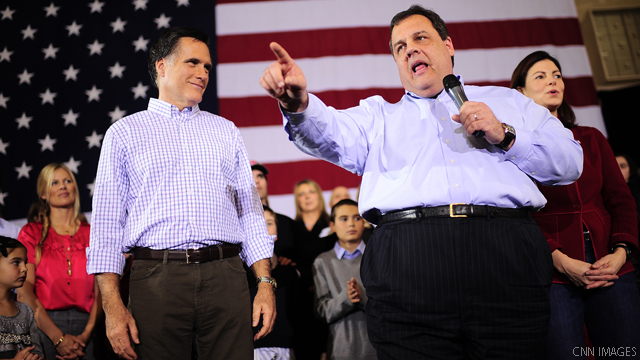 Christie takes on protesters chanting at Romney rally