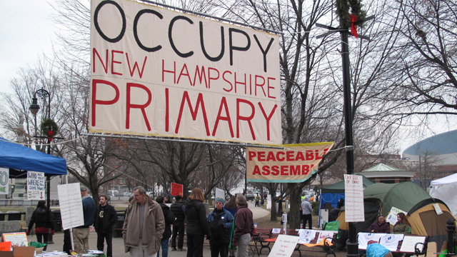 Occupying the primary: Protestors set up camp