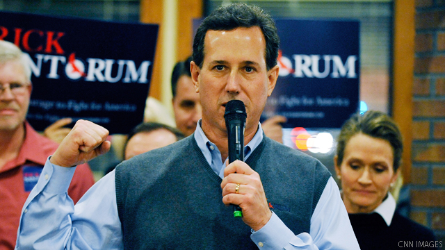 Santorum predicts one on one primary battle