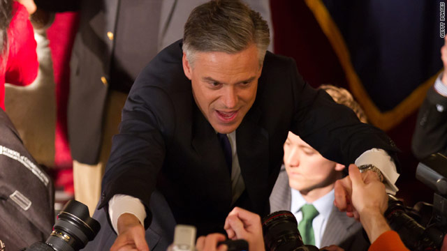 Huntsman surge stops at 3rd-place New Hampshire finish