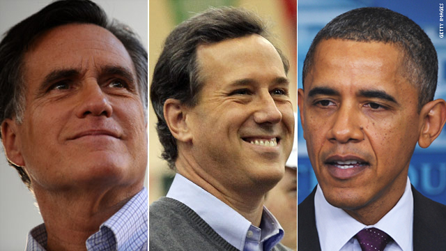 Poll: Romney, Santorum tied with Obama in Florida