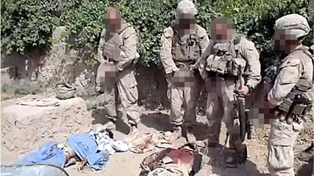 Video purports to show Marines urinating on corpses