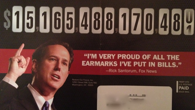 Pro-Romney super PAC attacks Santorum in South Carolina mail