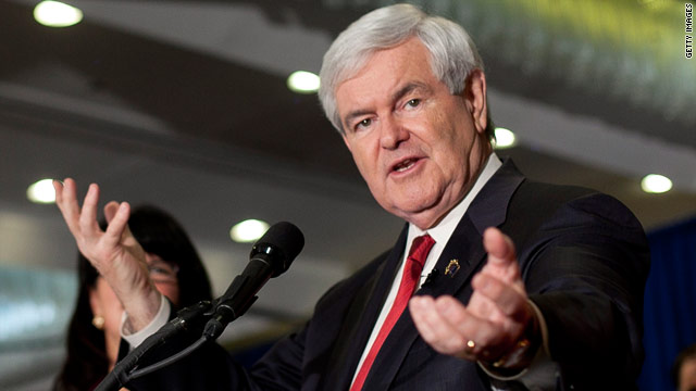 Gingrich laughs at Romney's jobs claims