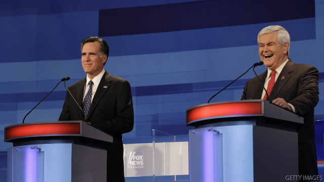 Romney, Gingrich continue to spar over jobs claim