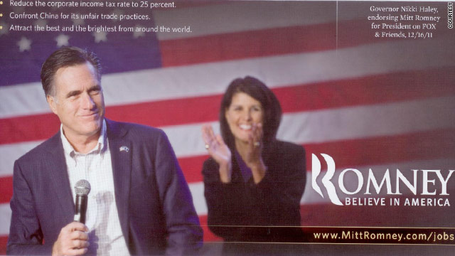 Romney mail piece touts endorsement from Nikki Haley
