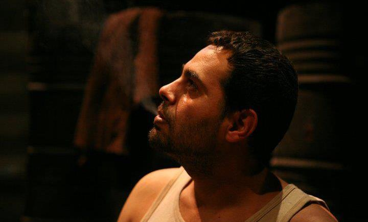 Imad Farajin on the set of Palestinian satire Watan Ala Watar (courtesy Iman Farajin)