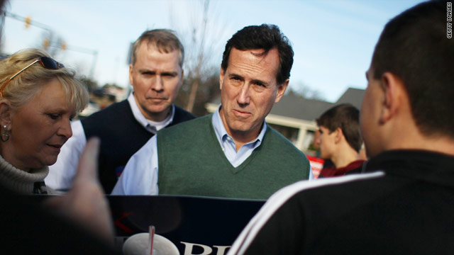 Santorum: Obama would 'destroy' Romney in November