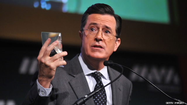 Stephen Colbert ready to make posters for his sister