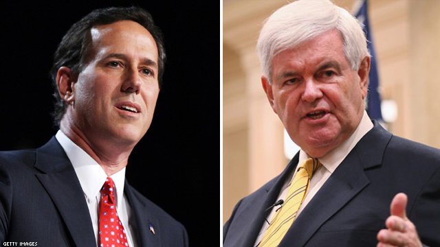 Santorum, Gingrich deliver back-to-back punches against Romney