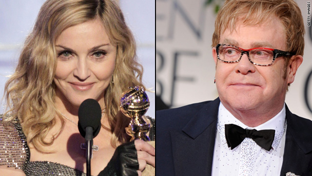 Elton John lost his 'Madonna won't win' bet