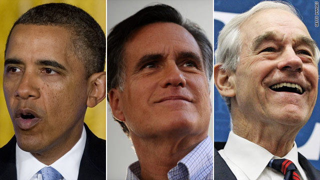 CNN Poll: Obama tied with Romney & Paul in November showdowns