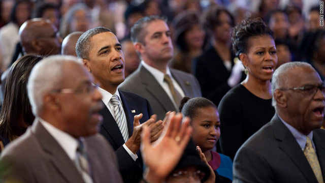 Obama attends Church Sunday to mark MLK Day