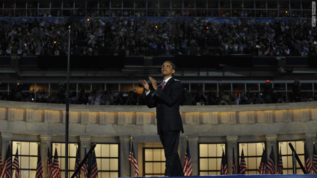 Obama will return to football stadium for convention speech