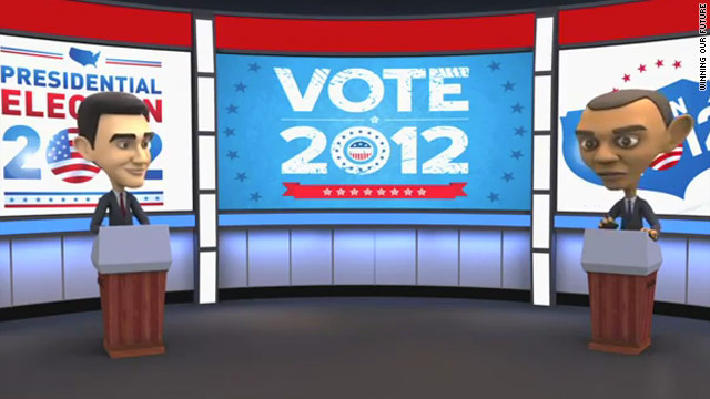 Super PAC aims to bolster Gingrich using animated debate between Obama, Romney