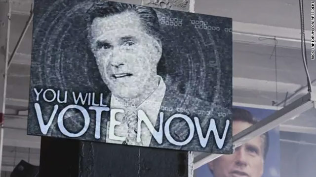 Romney the establishment, Santorum the 'rebel,' ad says