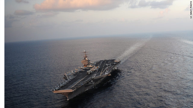 U.S. carrier transits Strait of Hormuz