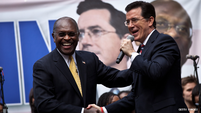 Colbert: Vote for Cain, he's on the ballot