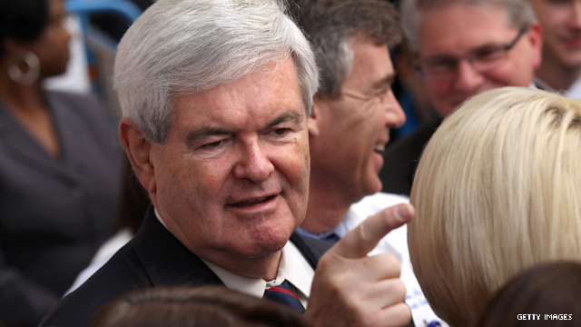 Gingrich not pleased after shout out from Obama