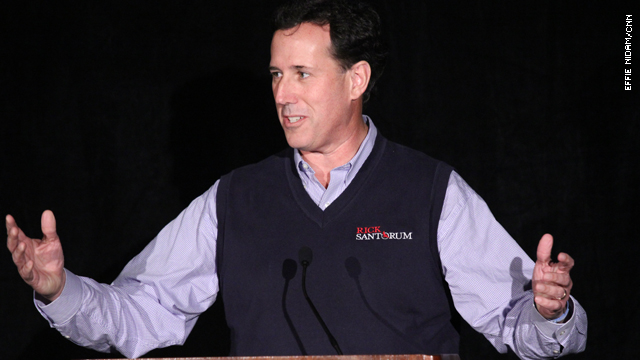 Santorum defends drug companies in health care speech