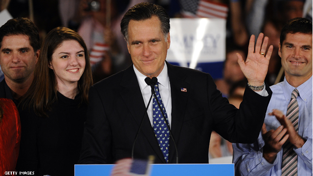 Romney's election night will be in Boston