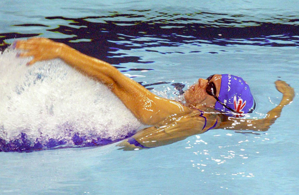 Katy Sexton became the first British female swimmer to win a world championship title in 2003.
