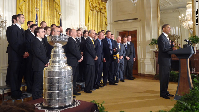 Stanley Cup comes to the White House