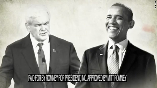 Romney out with biting ad against Gingrich