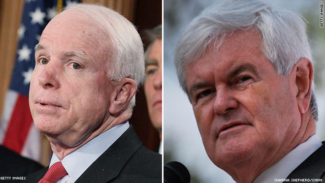 McCain blasts Gingrich on earmarks and leadership