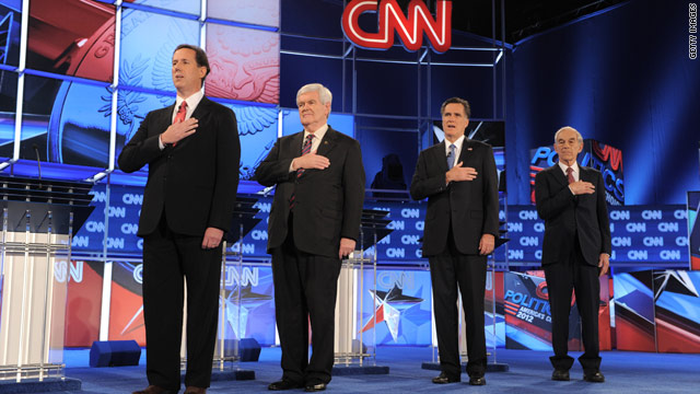 Gingrich, Romney clash over immigration, consulting, moon