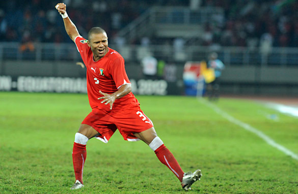 David Alvarez scored the goal which sent Equatorial Guinea through and Senegal crashing out. (Getty Images)