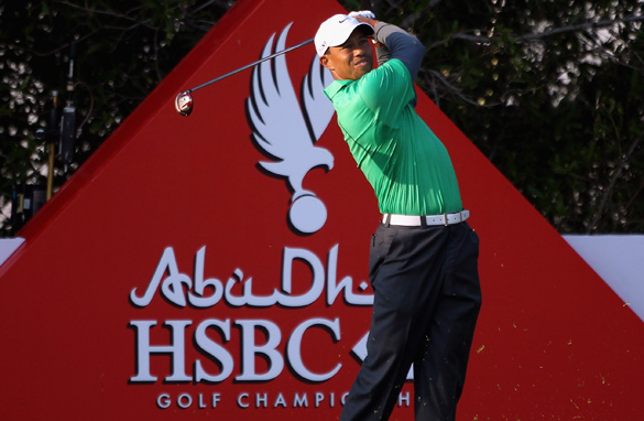 Tiger Woods has joined many of the world&#039;s top golfers in Abu Dhabi for the European Tour event.