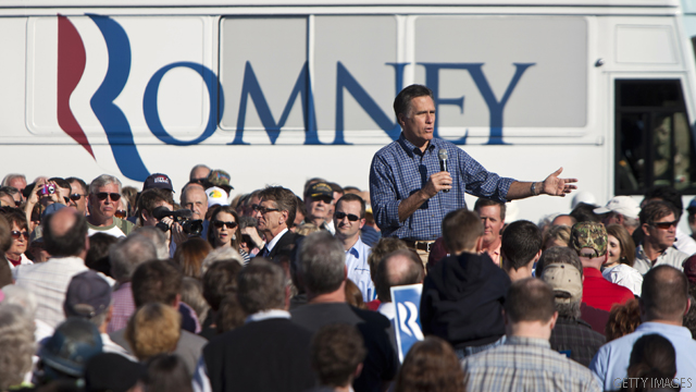 Romney to Gingrich: 'Look in the mirror'