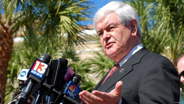 Gingrich sharpens attacks against Romney&#039;s wealth