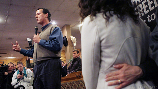 Eldest daughter and reality show star stand in for Santorum
