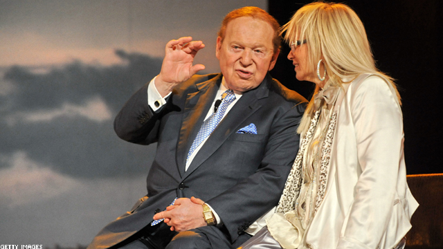 Sheldon Adelson and wife give $10 million to pro-Romney super PAC