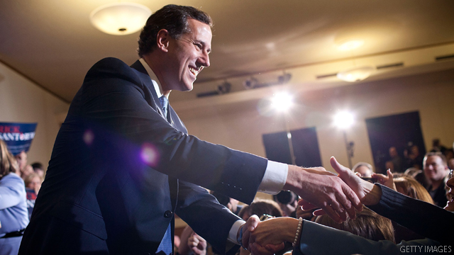 Santorum brings in campaign dollars