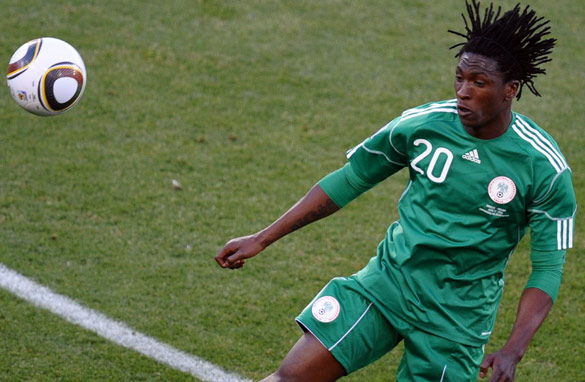 Dickson Etuhu says pulling on the Nigeria shirt was one of the best moments of his career. (Getty Images)