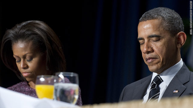Obama reflects on faith in prayer breakfast speech