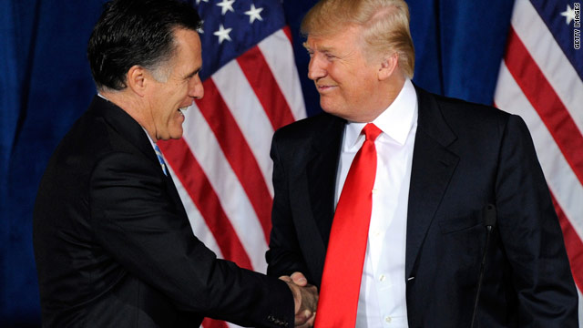 Trump sticks with 'birther' argument, Romney sticks with Trump