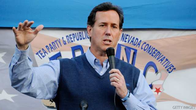 Santorum jabs Gingrich moon colony via satellite