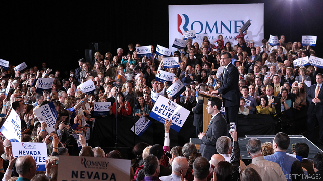 Romney thanks supporters as CNN projects win in Nevada