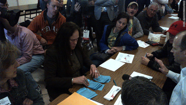 Votes tallied at Las Vegas caucus site