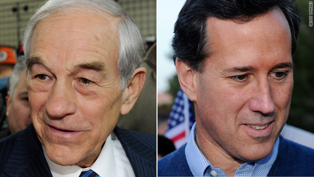 Nevada runners up, Paul and Santorum vow to continue campaigns
