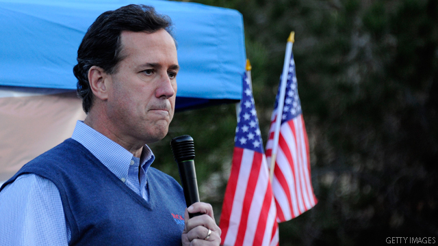 Team Romney shifts laser to Santorum